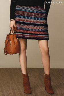 Karen Millen Multi Colour Item Tweed Skirt