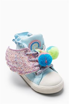 Wings Pom Pom High Tops (Younger Girls)