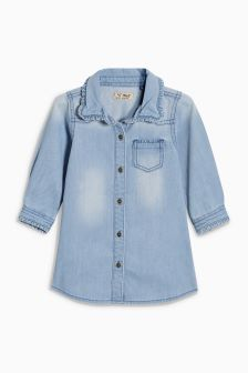Ruffle Collar Shirt Dress (3mths-6yrs)