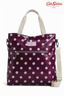 Cath Kidston Plum Zipped Tall Handbag