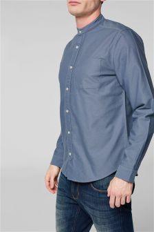 Long Sleeve Oxford Grandad Shirt