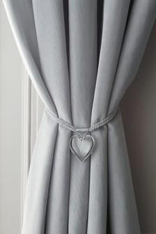 Set Of 2 Acrylic Heart Tie Backs