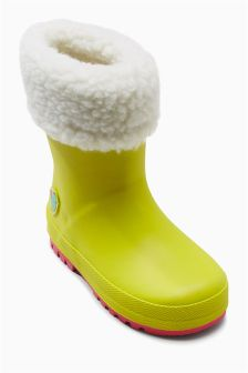 Fleece Cuff Wellies (Younger Girls)