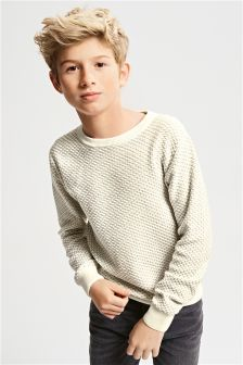 Brick Stitch Crew Neck Sweater (3-16yrs)