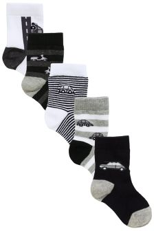 Transport Socks Five Pack (Younger Boys)