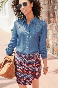 Statement Textured Skirt