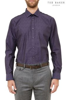 Ted Baker Purple Paisley Formal Shirt
