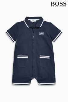 Hugo Boss Baby Navy Short Babygrow