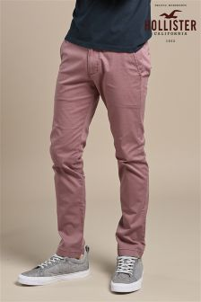 Hollister Red Washed Chino