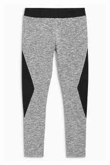 Black Panel Leggings (3-16yrs)