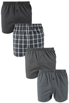 Mix Woven Boxer Four Pack
