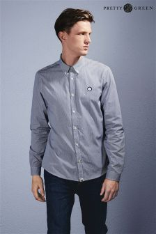 Pretty Green Navy Gingham Shirt