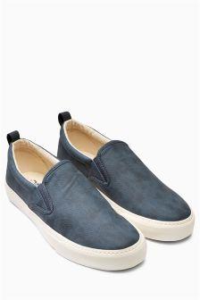 Navy Slip-On