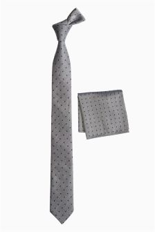 Spot Tie And Pocket Square