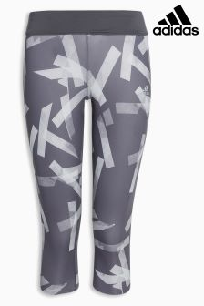 adidas Grey 3/4 Printed Run Tight