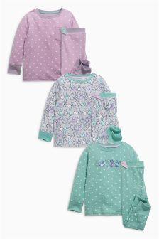 Bunny Snuggle Pyjamas Three Pack (9mths-8yrs)