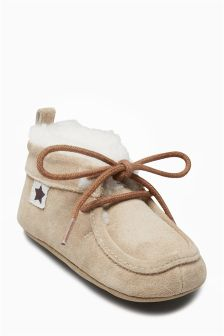 Shearling Pram Boots (Younger Boys)