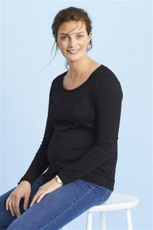 Maternity Long Sleeve Basic Tee