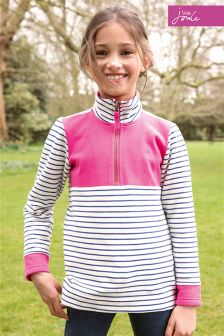 Little Joule Navy Stripe Fairdale Half Zip Sweatshirt