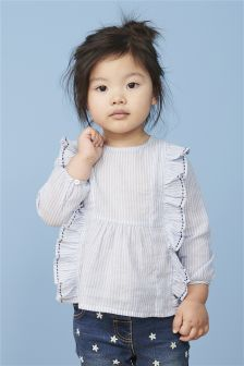 Stripe Ruffle Blouse (3mths-6yrs)