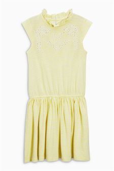 Stripe Embroidered Dress (3-16yrs)