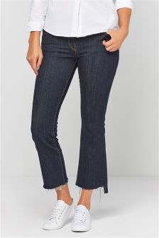 Step Hem Boot Cut Jeans