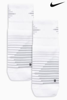 Nike White Dri Fit Socks Two Pack