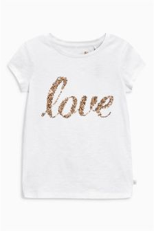 Love Sequin T-Shirt (3-16yrs)
