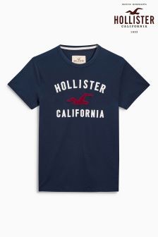 Hollister Navy Graphic T-Shirt