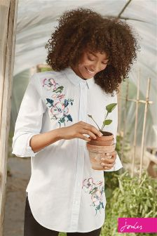 Joules Pale Green Laurel Longline Shirt