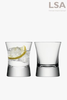 Set Of 2 LSA International Small Moya Tumbler Glasses