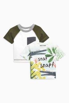 Short Sleeve Crocodile T-Shirts Two Pack (3mths-6yrs)