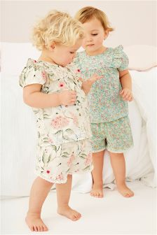 Floral Woven Short Pyjamas Two Pack (9mths-8yrs)