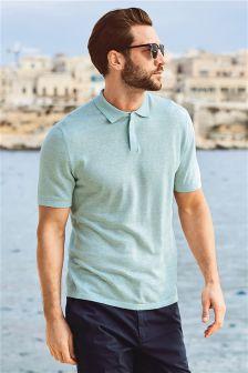 Wool Linen Blend Poloshirt