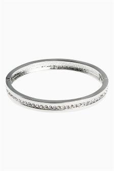 Diamanté Hinged Bracelet