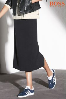 Boss Orange Navy Knit Skirt