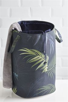 Leaf Print Laundry Bag
