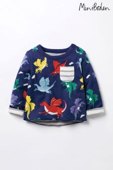 Boden Blue Reversible Printed T-Shirt