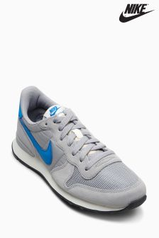 Nike Matte Silver/Blue Internationalist
