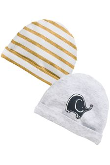 Dreamer Elephant Beanie Hats Two Pack (0-18mths)