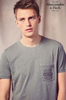 Abercrombie & Fitch Green Marl Washed T-Shirt