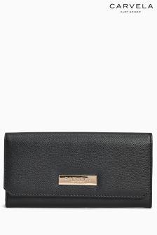 Carvela Alisa Foldover Black Wallet