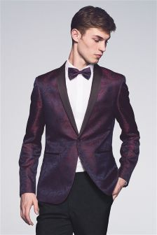 Paisley Tuxedo Skinny Fit Suit