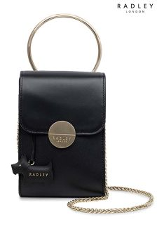 Radley Black Bliss Crescent Mini Flapover Multiway Bag