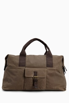 Waxed Messenger Holdall