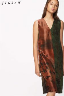 Jigsaw Autumnal Night V-Neck Dress