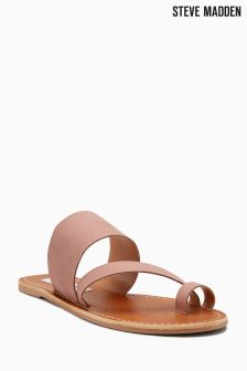 Steve Madden Pink Leather Loop Sandal