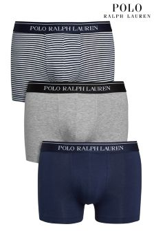 Ralph Lauren Navy/Stripe/Grey Boxers Three Pack