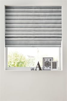 Grey Woven Oval Roman Blind