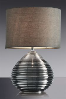 Smoke Glass Drizzle Table Lamp